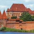 View an old medieval castle  in Malbork - Pomerania region, Pola — Stock Photo