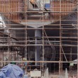 Construction of the ship in dry dock — Stock Photo #32301333