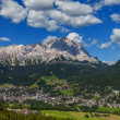 View of Cortina D'Ampezzo, Italy — Stockfoto