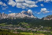 View of Cortina D'Ampezzo, Italy — Stock Photo