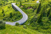 Dolomites manzara dağ yolu ile. i̇talya — Stok fotoğraf