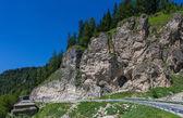Horská silnice v dolomity, itálie — Stock fotografie