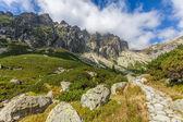 Beautiful trail in the Tatra Mountains — Stock Photo