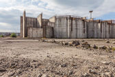 Abandoned nuclear power plant construction site in Żarnowiec, P — Stock Photo
