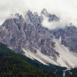 The Dolomites in the clouds — Stock Photo