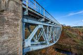 Old truss railway bridge — Stock Photo