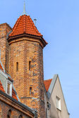 Architecture of the old town in Gdansk — Stock Photo