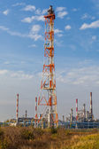 View of an oil refinery — Stock Photo