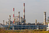 View of an oil refinery — Foto Stock
