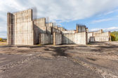 The grounds of the former construction nuclear power plant — Stock Photo