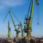 Historic cranes in Gdansk Shipyard — Stock Photo #35112055