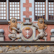 Coat of arms the city of Gdansk — Stock Photo