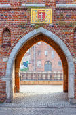 Medieval gate - Gdansk, Poland — Stock Photo
