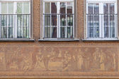 Decorations on the facade of the building — ストック写真