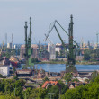 View of the historic Gdansk Shipyard - Poland — Stock Photo