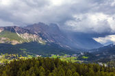 Cortina dAmpezzo after storm - Italy — Stock Photo