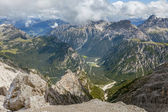 Beautiful view of the Dolomites in summer — Stock Photo