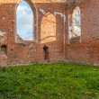 Ruins of gothic church from a red brick — Stock Photo