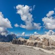 Mountain peaks in the Dolomites - Italy — Stock Photo