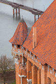 The Castle of the Teutonic Order in Malbork — Stock Photo