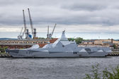 NATO warship in the port of Gdansk — Stock Photo