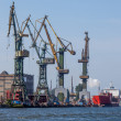 Shipyard in Gdansk - View Industrial — Stock Photo