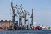 Shipyard in Gdansk - View Industrial — Stock Photo