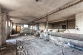 Empty, decaying, old barn - Poland — Stock Photo