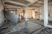 Abandoned room of an old factory — Stock Photo