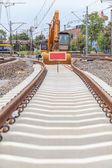 Construction of a new railway line — Stock Photo