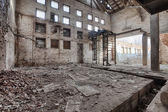 Old, abandoned and forgotten brick factory — Stock Photo