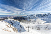 Winter landscape mountain - Tatras, Poland — Stock Photo