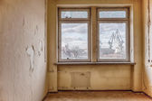 Old, abandoned and forgotten building - window — Stock Photo
