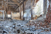Interior of an old barn — Photo