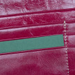 Open leather red wallet — Stock Photo #14346083