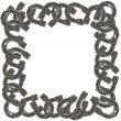 Frame of horseshoes - Stock Photo