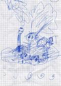 Hand-zeichnung — Stockfoto