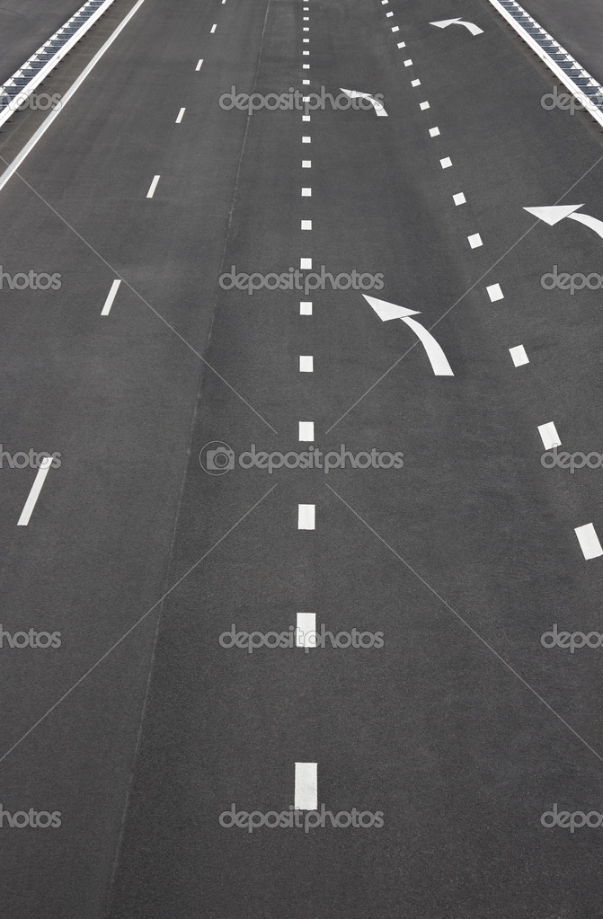 Asphalt road and white line markings,Asphalt road texture  — Stock Photo #14345949