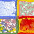 Hand painted illustration of four seasons. Picture I have created with watercolors. — Stok fotoğraf