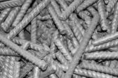 Threaded metal rod, close up — Stock Photo