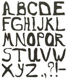 Lettres texturé gris — Photo