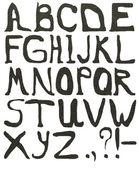 灰色纹理的字母 — 图库照片