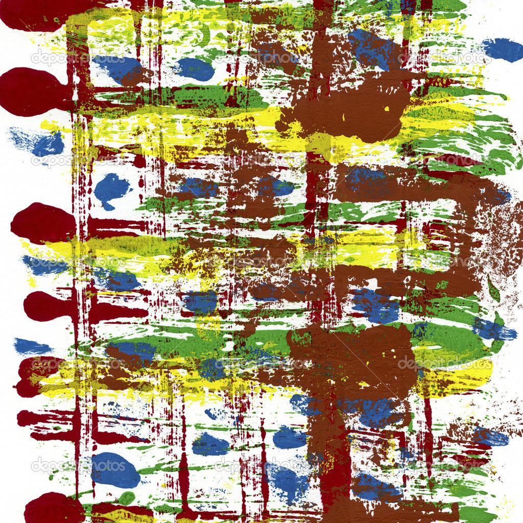 抽象手绘水彩 — 图库照片