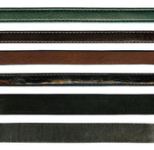 Leather belts — 图库照片