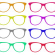 Stock Photo: Set of colorful glasses