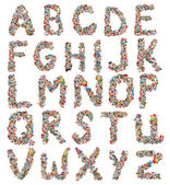 Collage made of newspaper clipping, letters, ABC, — Stock Photo