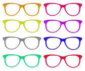 The set of colorful glasses — 图库照片