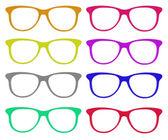 Uppsättningen färgglada glasögon — Stockfoto
