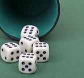 Il gioco dei dadi — Foto Stock