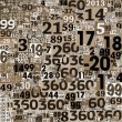 Stock Photo: Collage of numbers made of newspaper clippings.